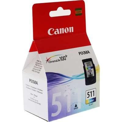 Canon 511 Ink Cartridge, Tri Color