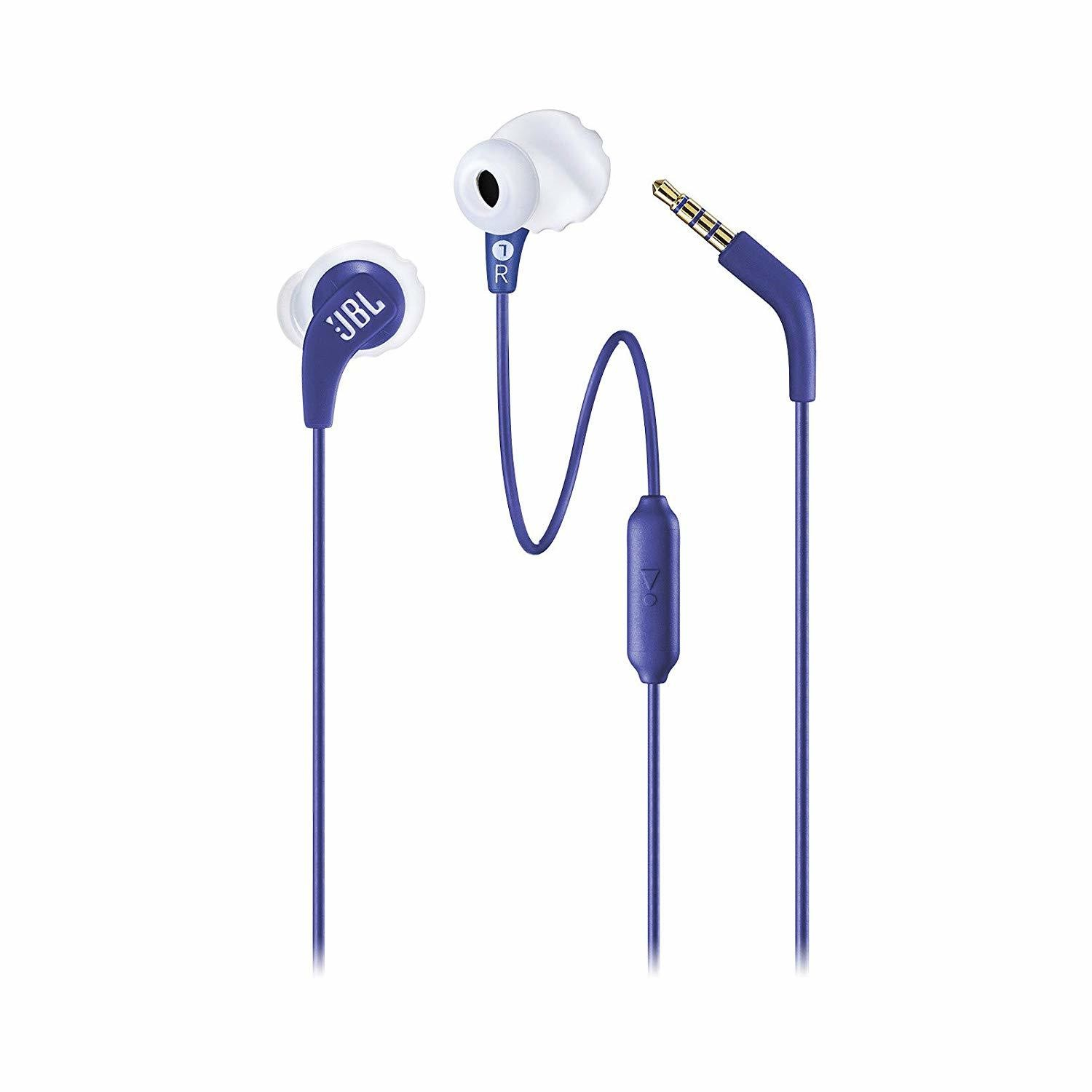 JBL Endurance Run in-Ear Headphones, Blue