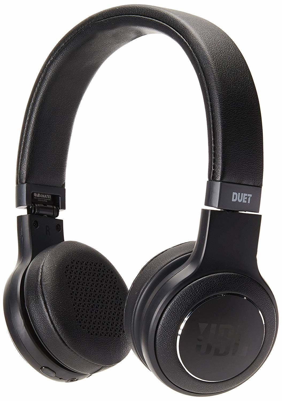 JBL Duet Bluetooth Wireless On-Ear Headphones-Black