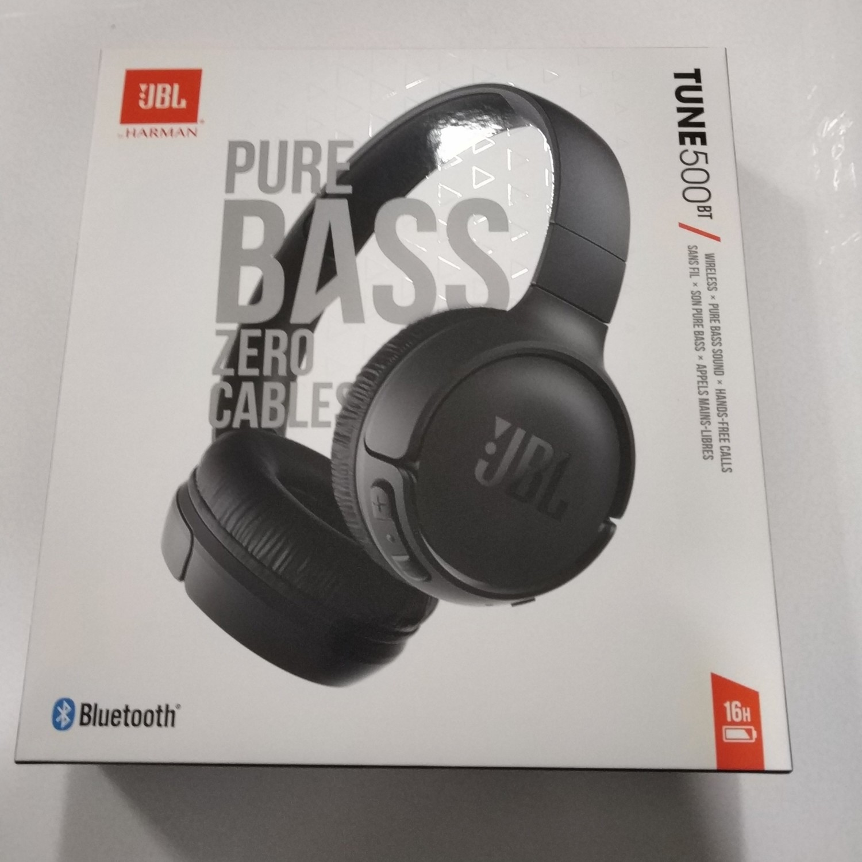 JBL Tune 500BT Powerful Bass Wireless On-Ear Headphones -black