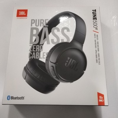 JBL Tune 500BT Powerful Bass Wireless On-Ear Headphones -black