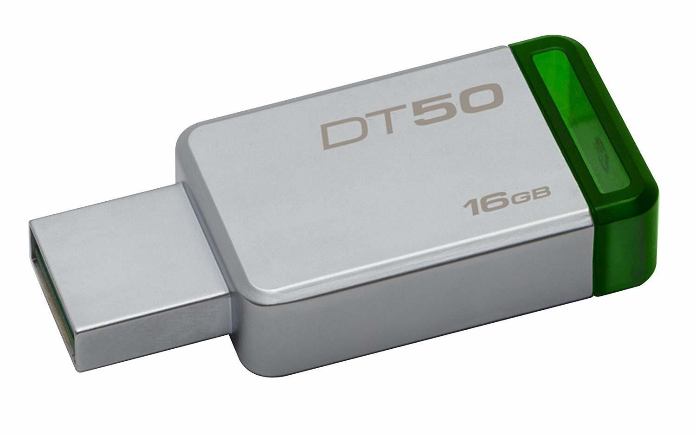 Kingston 16GB Pen Drive, 3.0, DT50, Metal