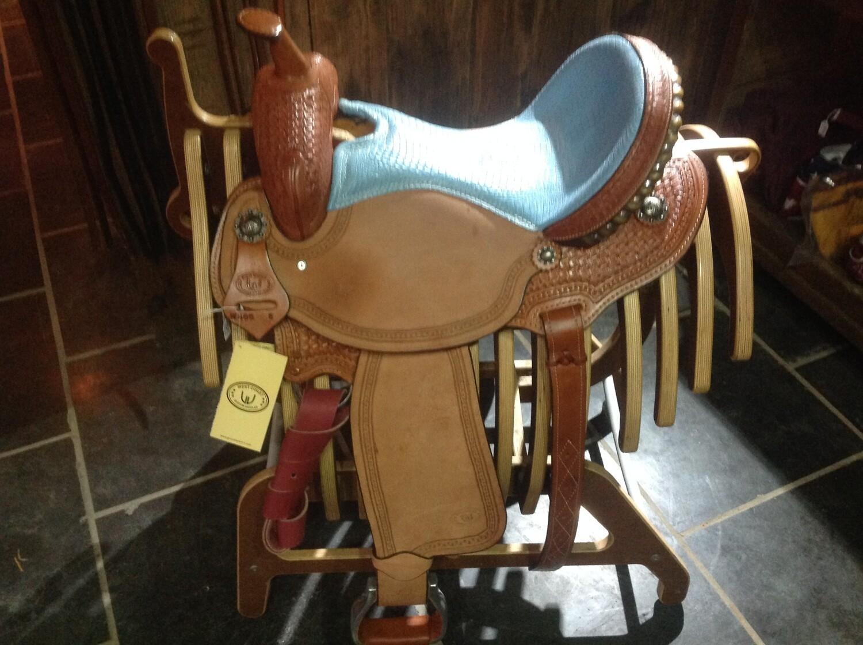 West Coast Barrel saddle