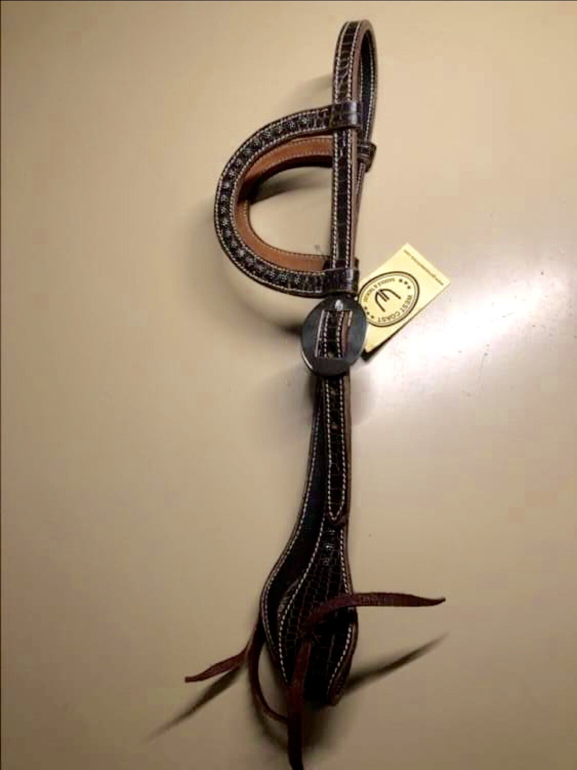 West Coast Headstall with double Earpiece With Dots