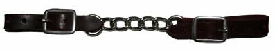 Leather curbchain single chain