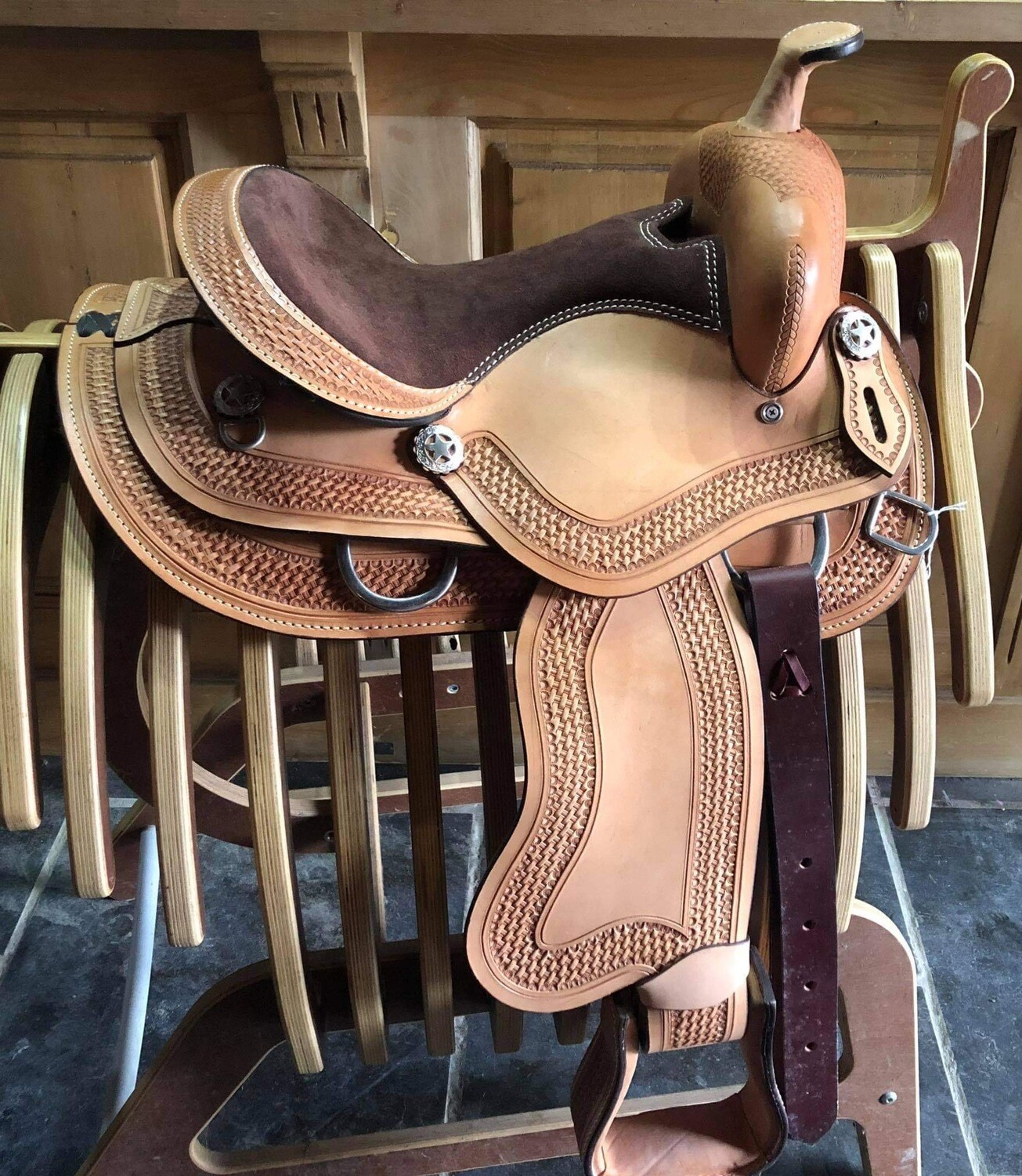 "EE Tack"" - Child / Youth Saddle - 13,5 '' - US Leather- #7705"