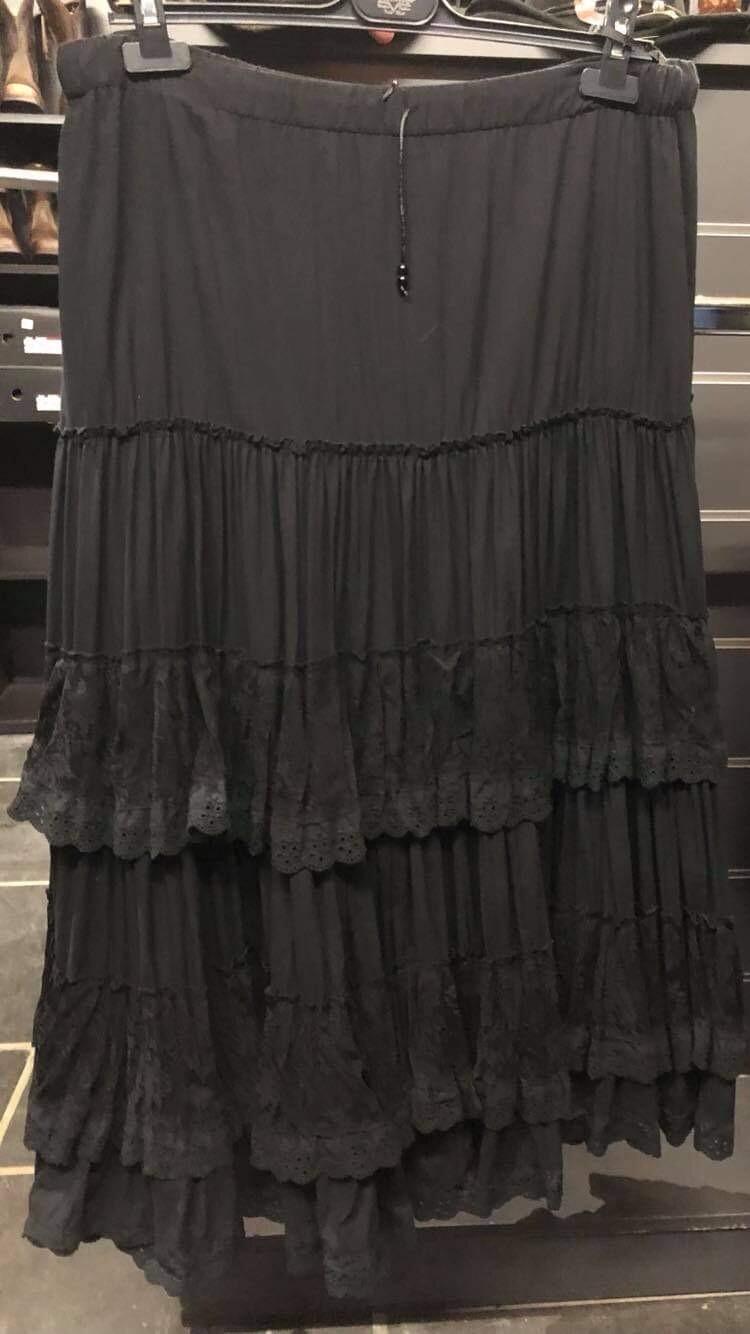 Skirt Long Black Star and Stripes