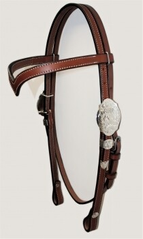 Showheadstall with V-Browband
