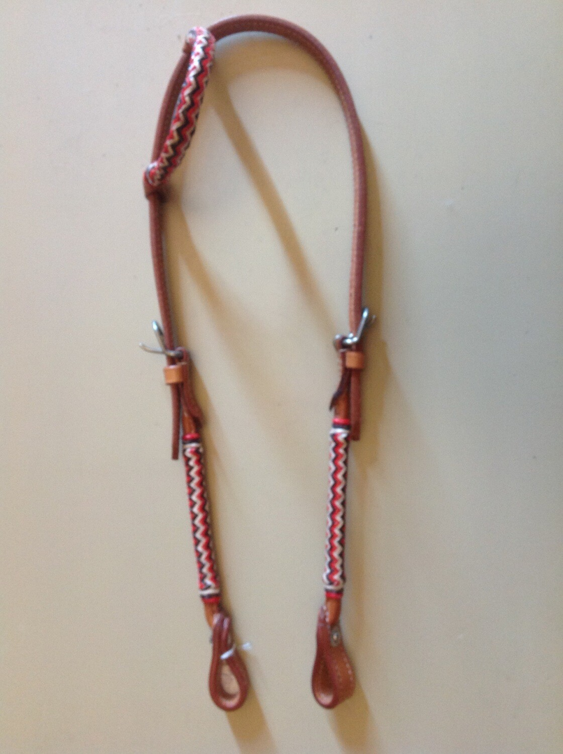 Headstall with rawhide one ear