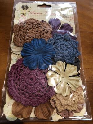 Prima Flowers - 12 Crochet Paper Mix