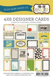 Echo Park Memos - For the Record Memo 4x6 Cards