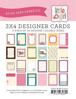 Echo Park Memos - Little Girl 3x4 Cards