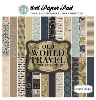 Echo Park Old World Travel 6x6 Paper Pad