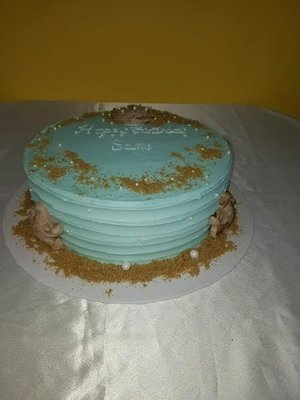 Buttercream Beach Theme Cake