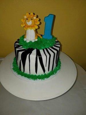 Fondant Tiger Birthday Cake