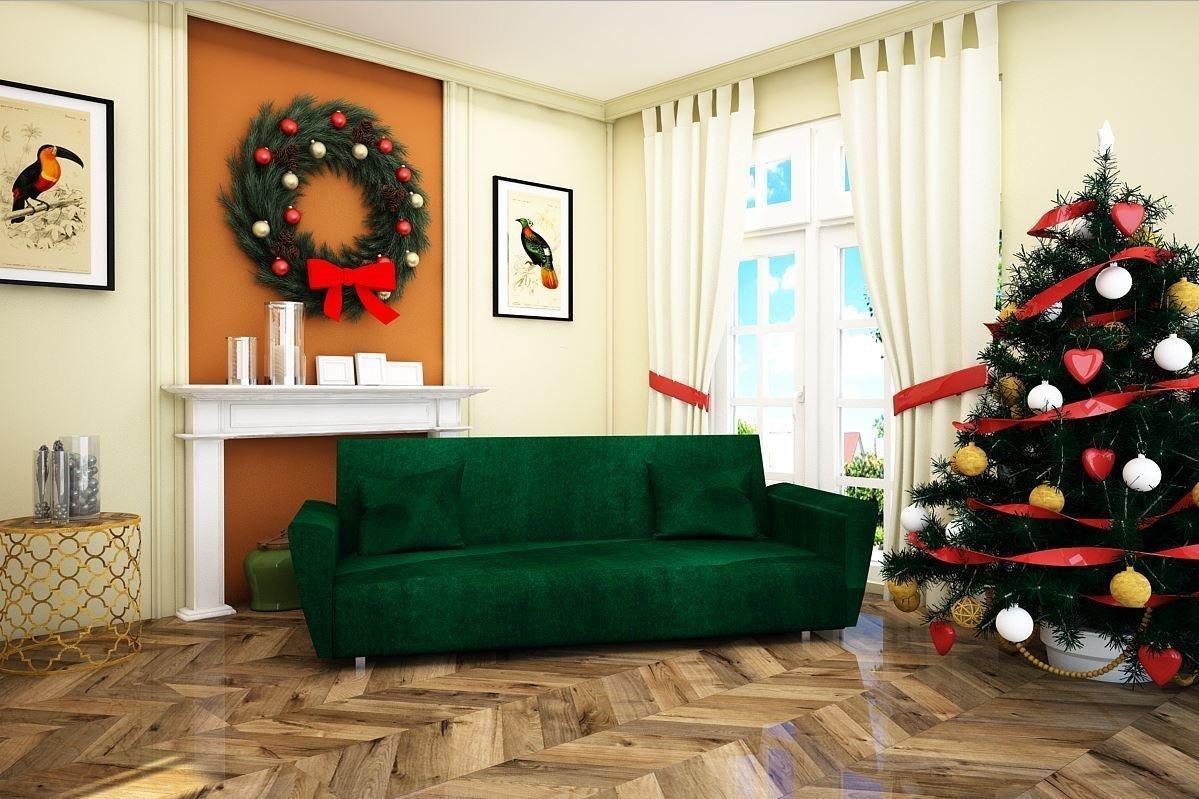 Диван Шинил зеленый