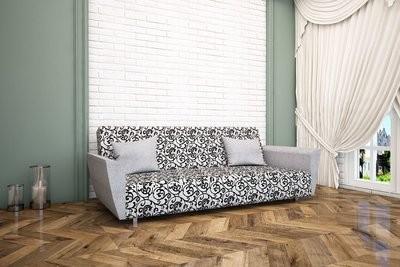 Диван Рогожка Орнамент серый