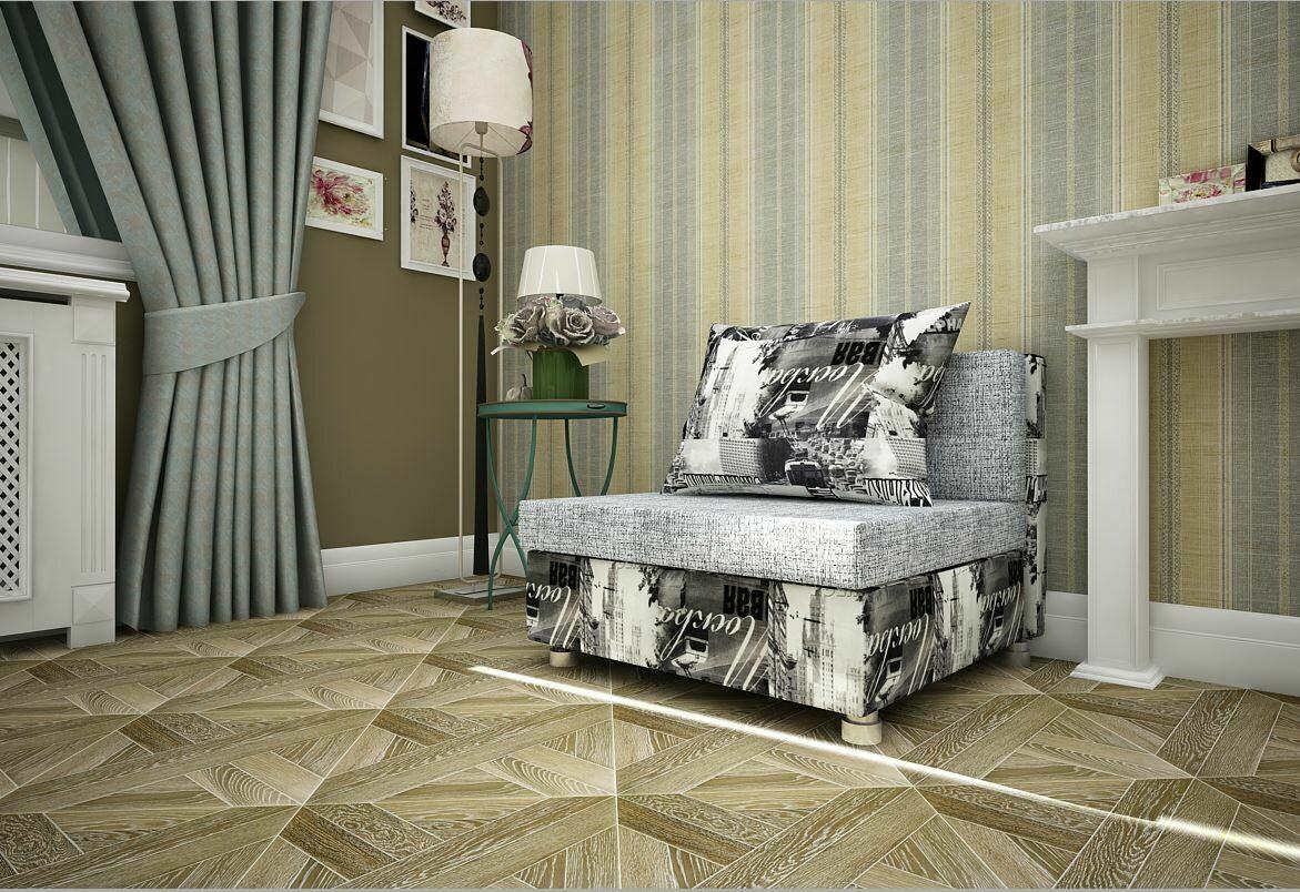Кресло-кровать рогожка серая +Москва