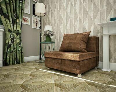 Кресло-кровать Флок коричевый