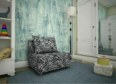 Кресло-кровать зебра серая