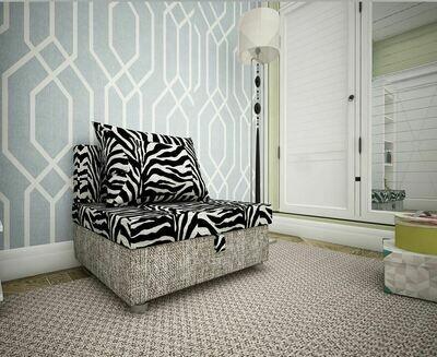 Кресло-кровать зебра + рогожка
