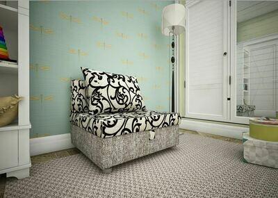 Кресло-кровать Вензеля +рогожка серая