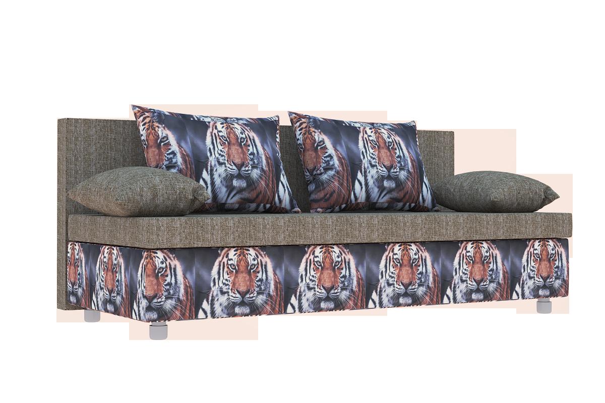 Диван Еврокнижка ткань Тигр