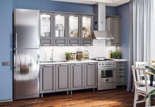 Кухонный гарнитур «Констанция Графит»(2 м)