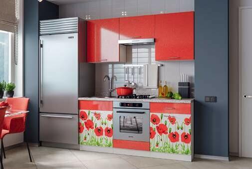 Кухонный гарнитур «Техно Маки»1,6 м
