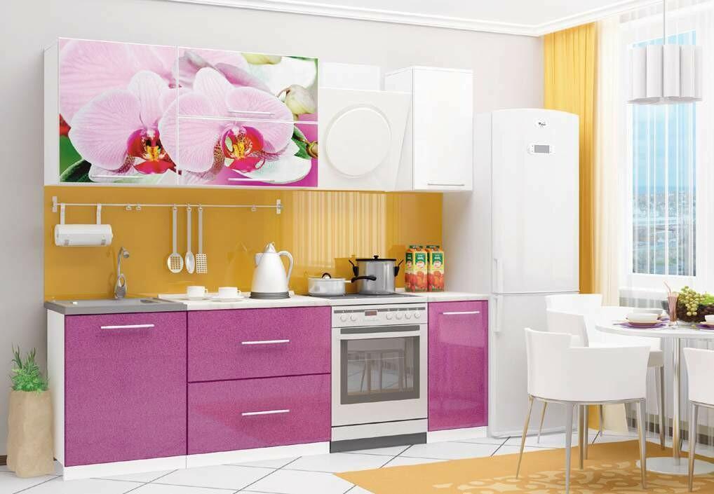 Кухонный гарнитур «Техно» Орхидея (1,8 м)