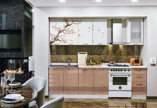 Кухонный гарнитур фортуна «Сакура»(2 м)