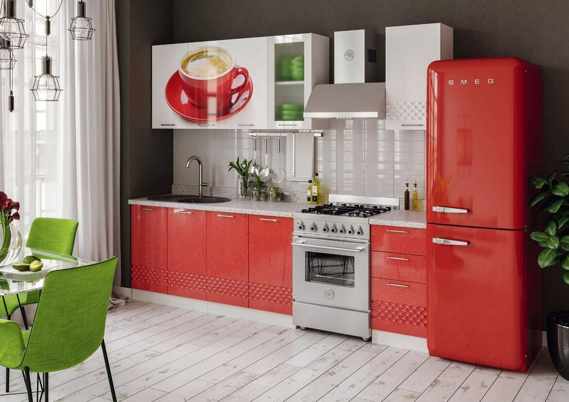 Кухонный гарнитур «Волна Чашка»(2 м)