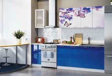 Кухонный гарнитур «Техно» Бабочки (2 м)