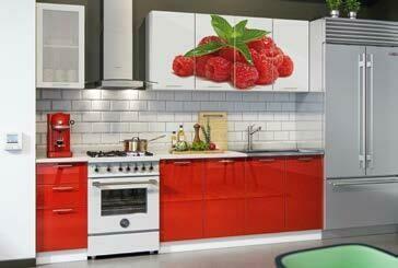 Кухонный гарнитур фотопечать «Малина» (2 м)