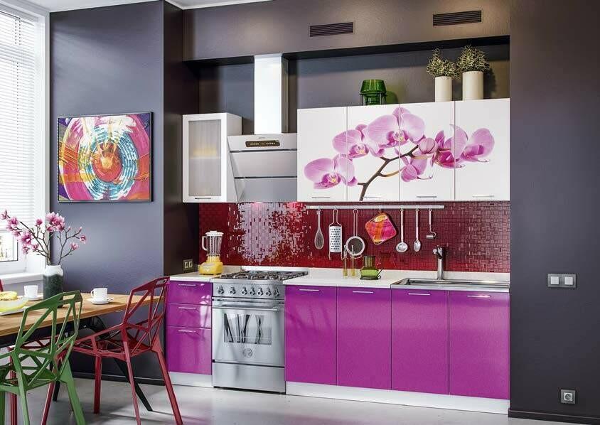 Кухонный гарнитур «Техно» Орхидея 2 (2 м)