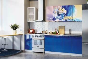 Кухонный гарнитур «Техно» Ромашки (2 м)