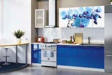 Кухонный гарнитур «Техно» Орхидея (2 м)