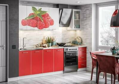 Кухонный гарнитур «Фортуна Малина»2 м