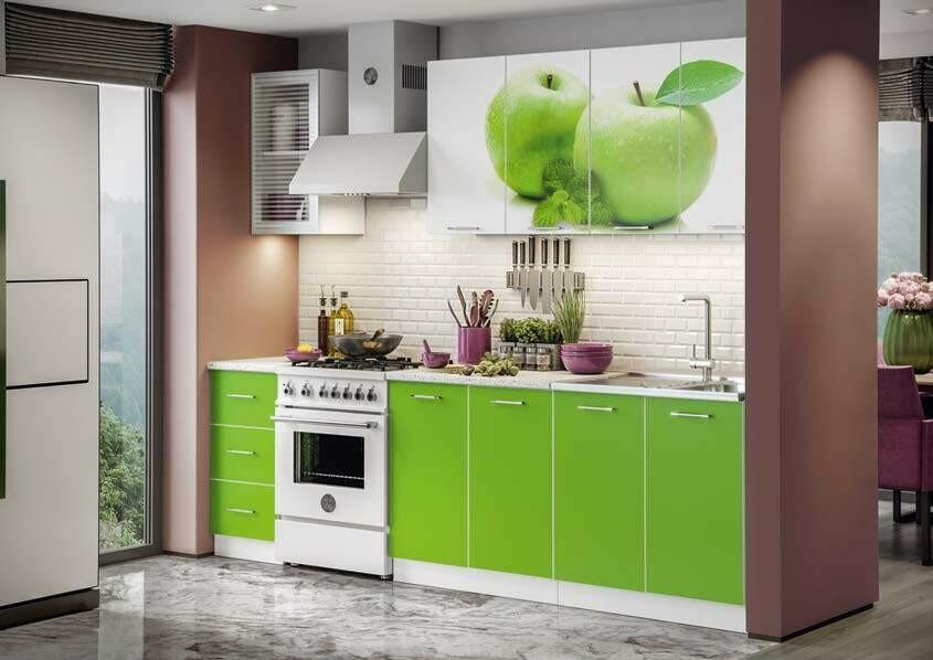 Кухонный гарнитур «Фортуна Яблоко»2 м
