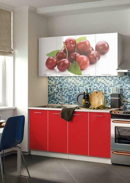 Кухонный гарнитур «Фортуна Вишня» 1,6 м