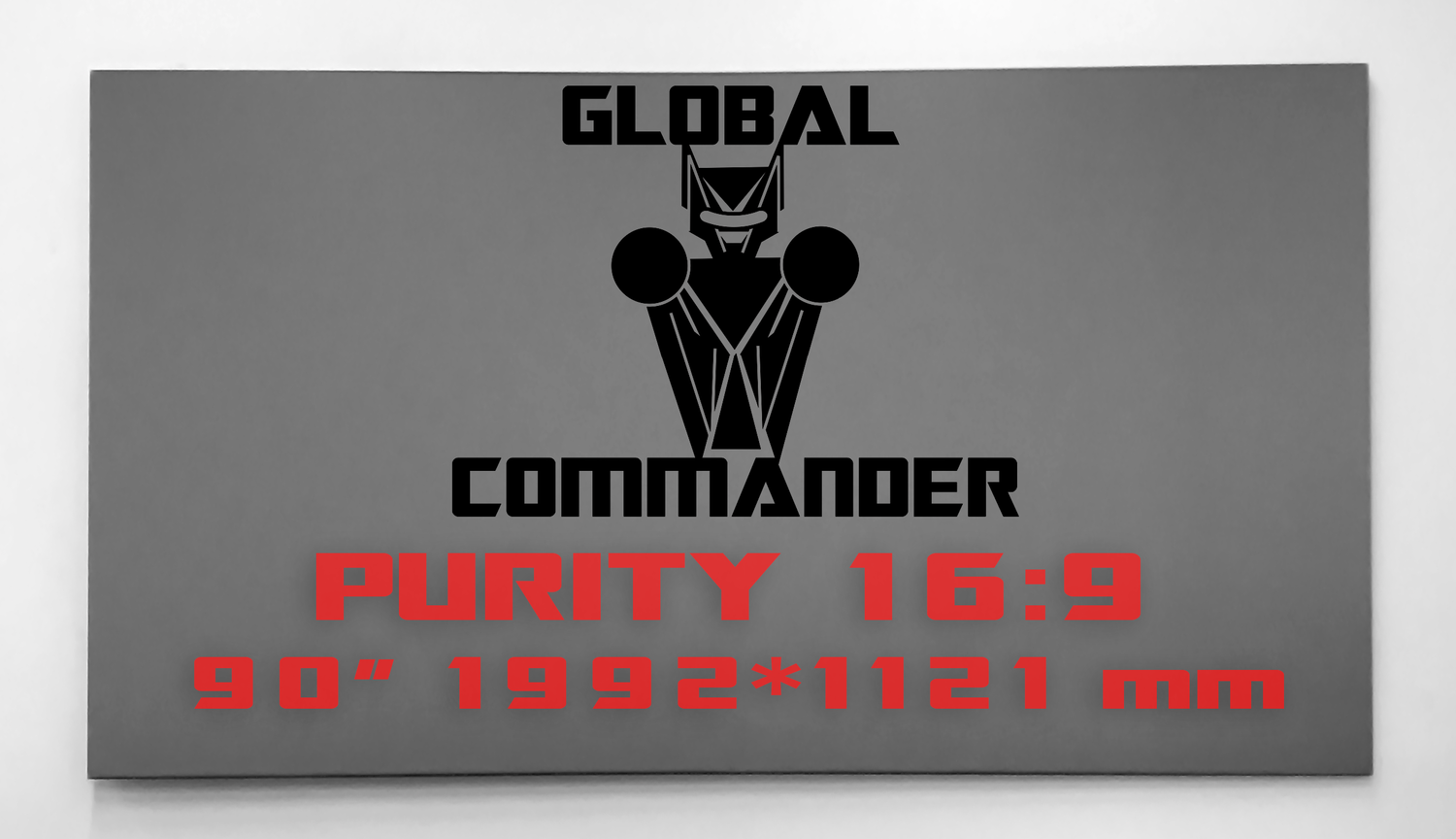 "GLOBAL COMMANDER ""PURITY"" 16:9 90"" - Schermo Videoproiettore 4K / 8K"