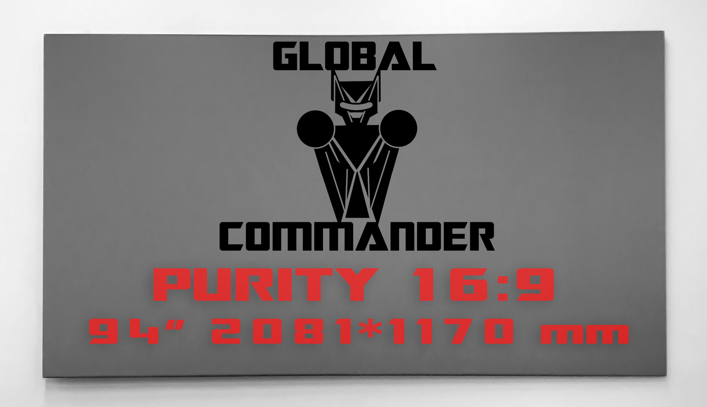 "GLOBAL COMMANDER ""PURITY"" 16:9 94"" - Schermo Videoproiettore 4K / 8K"