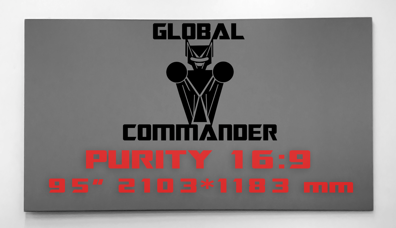 "GLOBAL COMMANDER ""PURITY"" 16:9 95"" - Schermo Videoproiettore 4K / 8K"