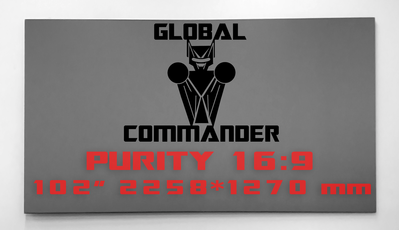 "GLOBAL COMMANDER ""PURITY"" 16:9 102"" - Schermo Videoproiettore 4K / 8K"