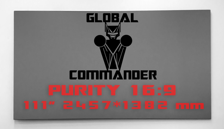 "GLOBAL COMMANDER ""PURITY"" 16:9 111"" - Schermo Videoproiettore 4K / 8K"
