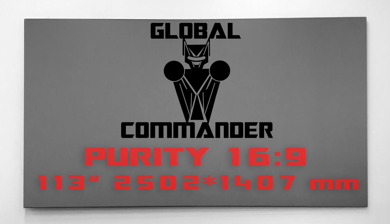 "GLOBAL COMMANDER ""PURITY"" 16:9 113"" - Schermo Videoproiettore 4K / 8K"