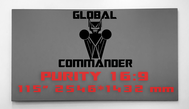 "GLOBAL COMMANDER ""PURITY"" 16:9 115"" - Schermo Videoproiettore 4K / 8K"