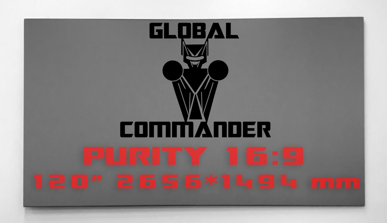 "GLOBAL COMMANDER ""PURITY"" 16:9 120"" - Schermo Videoproiettore 4K / 8K"