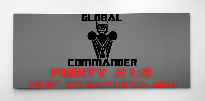 "GLOBAL COMMANDER ""PURITY"" 21:9 105"" - Schermo Videoproiettore 4K / 8K"