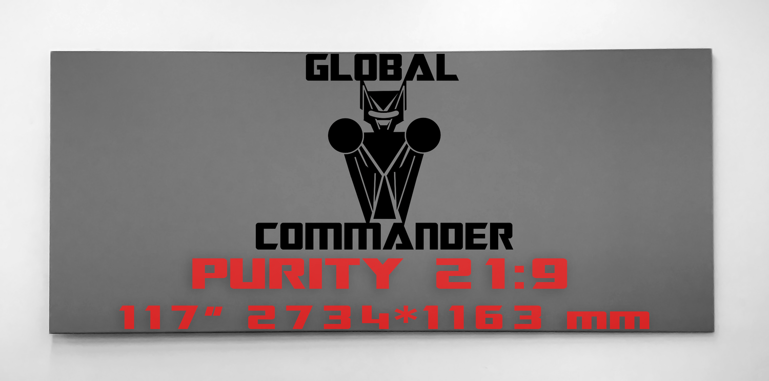 "GLOBAL COMMANDER ""PURITY"" 21:9 117"" - Schermo Videoproiettore 4K / 8K"